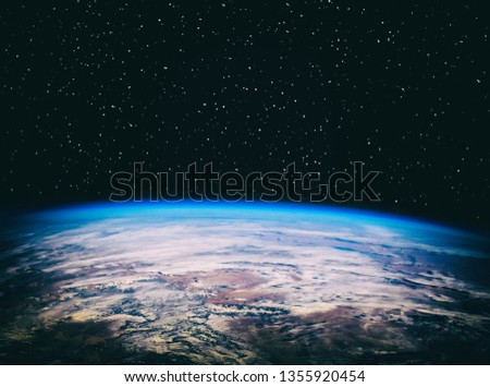 View of the earth from the cosmos. The elements of this image furnished by NASA.