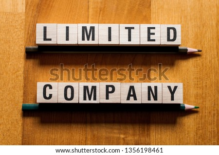 Limited company words concept #1356198461