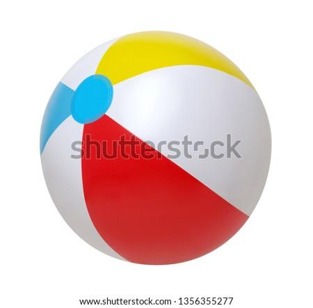Beach ball isolated on a white background #1356355277