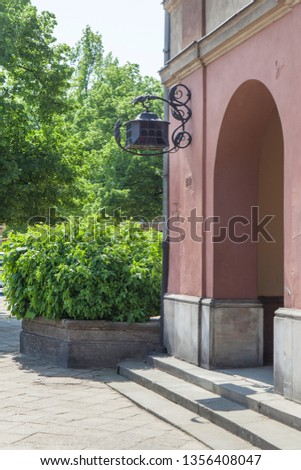 Vintage lanterns on the streets of Warsaw #1356408047