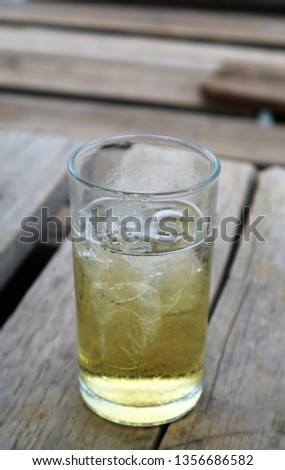Close-up pictures of ice in the glass #1356686582