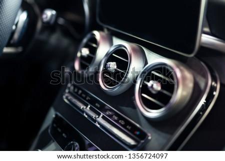 Luxury Car Interior AC Control And Ventilation Deck #1356724097