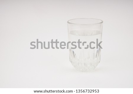 A glass of water isolated on white background  #1356732953