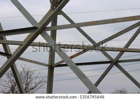 electric pole close up #1356745646