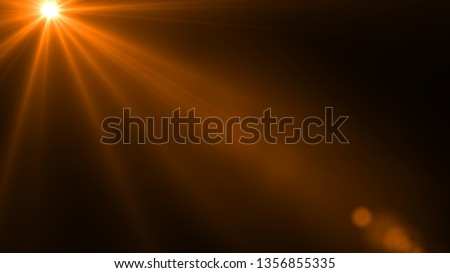 Sun rays light isolated on the black background for overlay design ( screen blending mode layer) #1356855335