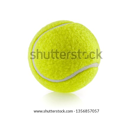 tennis ball isolated white background #1356857057