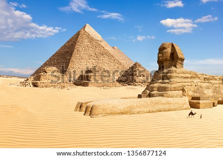 The Pyramids of Giza and the Sphinx, Egypt #1356877124