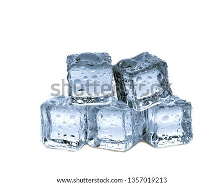 ice cubes on white background #1357019213