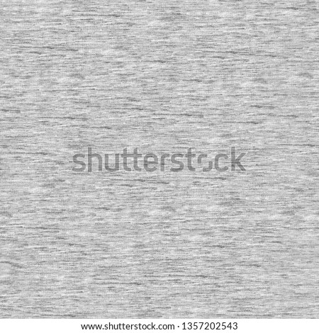 Melange seamless fabric texture.  Gray heather fabric seamless pattern. Real grey knitted fabric. #1357202543