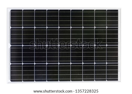 Solar cell, Photovoltaic isolated with white backgroud
