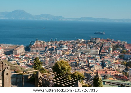 Panoramic view of the Gulf of Naples, Italy #1357269815
