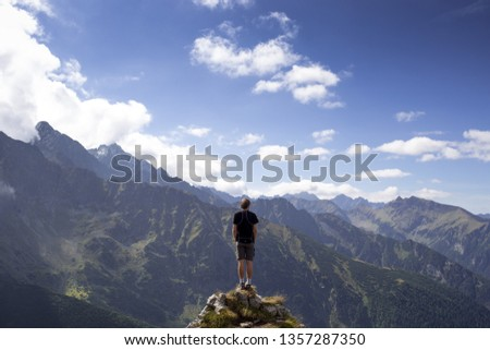 view of the mountain and the blue sky #1357287350