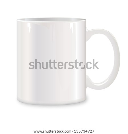white cup. mug vector illustration. #135734927