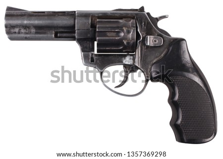 Revolver isolated on white background #1357369298