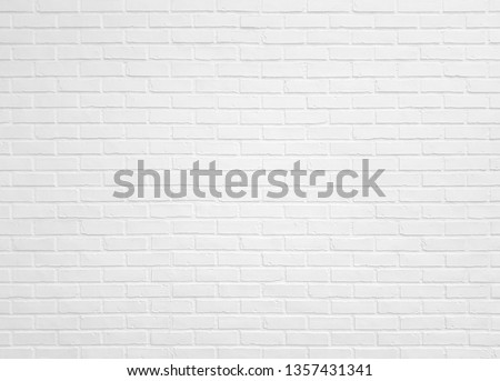 White brick wall texture for pattern background. #1357431341
