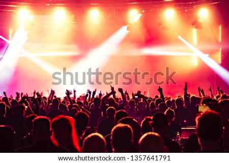 concert crowd at rock concert #1357641791