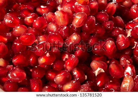 Pomegranate red seed texture background #135781520
