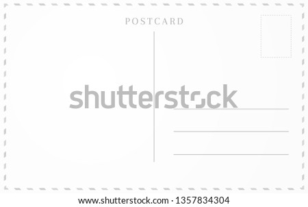 Old postcard template. Post card frame design. Royalty-Free Stock Photo #1357834304