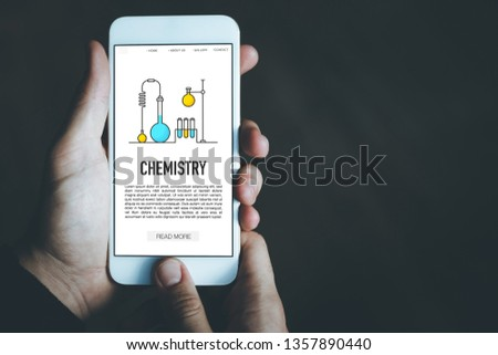 CHEMISTRY CONCEPT ON SCREEN #1357890440