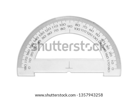 Protractor Isolated White Background