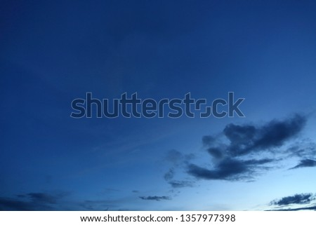 black cloud on blue night sky background #1357977398