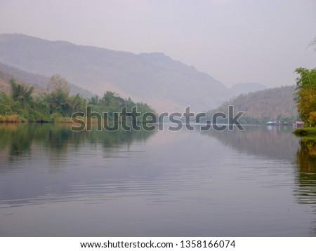 The river that flows from Erawan Waterfall, Kanchanaburi Province #1358166074