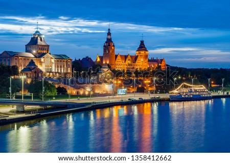 Szczecin – Night panorama Royalty-Free Stock Photo #1358412662