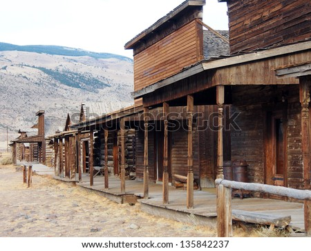 Ghost Town, Cody, Wyoming, United States Royalty-Free Stock Photo #135842237