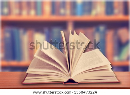 Collection of old books  on background #1358493224