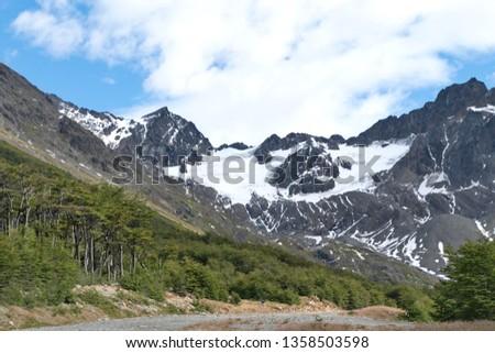 View of Martial Glacier, Ushuaia, Tierra del Fuego, Argentina #1358503598