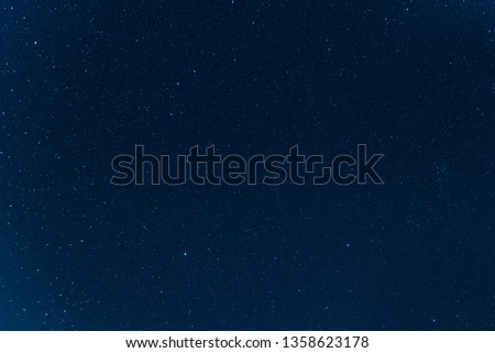 Night blue sky with stars. The texture of a blue sky with stars. #1358623178