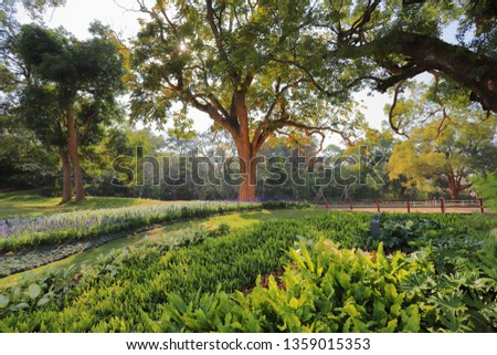 Park landscape in Houli Horse Ranch, Taichung City, Taiwan. #1359015353