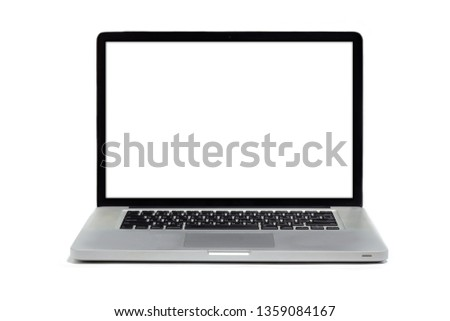Isolated laptop on white background. #1359084167