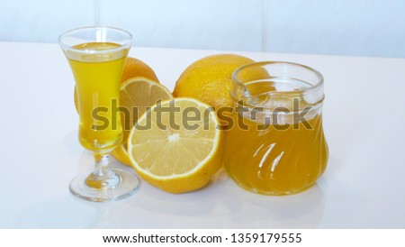 limoncello Zitrone Liqueur #1359179555