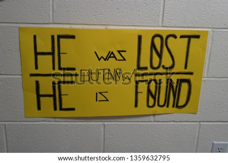 He was lost but now is found, laundry, grace, gather signs #1359632795