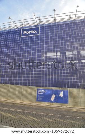 Porto, Portugal – February 3, 2019: New Bolhao Market Construction Site in Porto, Portugal, Europe #1359672692