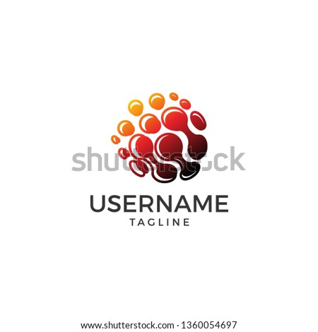 Technology logo bio Template, illustration #1360054697