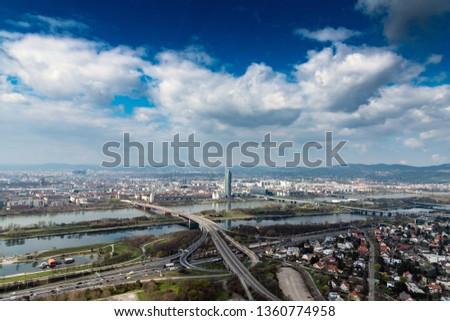 Vienna skyline in nice spring day. #1360774958