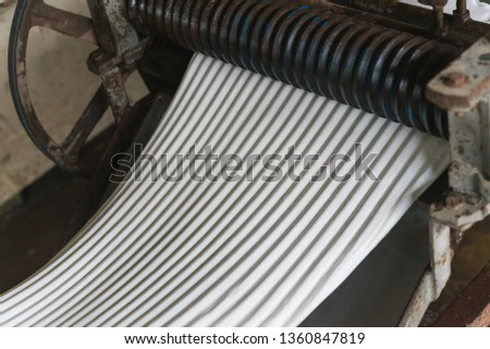 Making rubber sheets process #1360847819