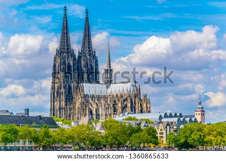 Detail of the cathedral in Cologne, Germany Royalty-Free Stock Photo #1360865633