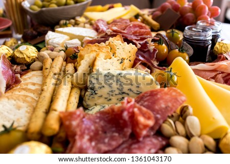 Scenes from a Grazing Table Royalty-Free Stock Photo #1361043170