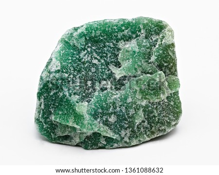 Green mineral stone specimen of aventurine isolated on white limbo background #1361088632