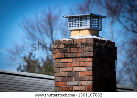 Chimney cap installed to prevent rodent entry to home/attic/building #1361107082