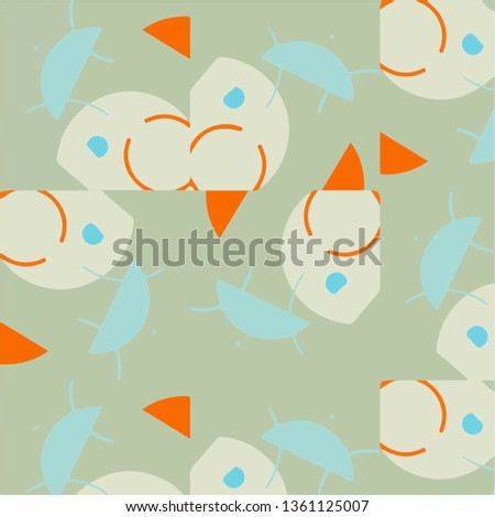 Simple vector illustration. Abstract geometric background pattern #1361125007