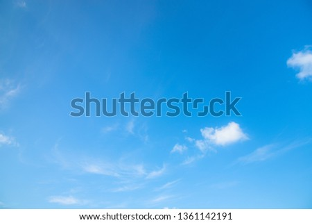 Beautiful blue sky background with cloudy. #1361142191