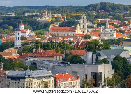 Vilnius. Aerial view of the city. #1361175962
