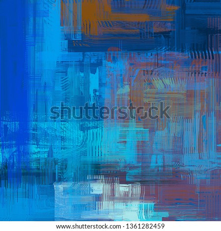 Abstract texture. 2d illustration. Expressive handmade oil painting on canvas. Wide brushstrokes. Modern art. Multi color backdrop. Contemporary brush. Colorful digital backdrop. #1361282459