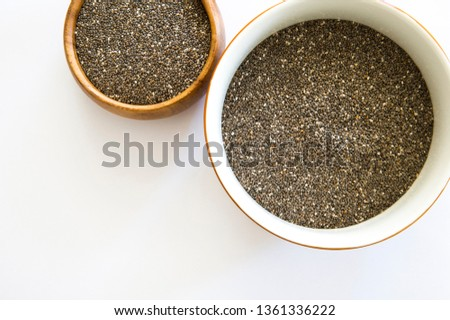 Chia seeds isolated with white background.  #1361336222