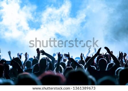 concert crowd at rock concert #1361389673