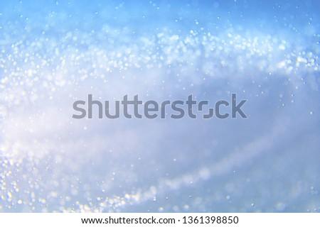 Glitter abstract lights background. Defocused bokeh illustration #1361398850